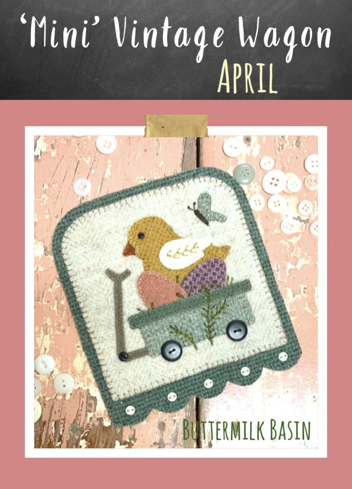Mini Vintage Wagons April * KIT & Pattern