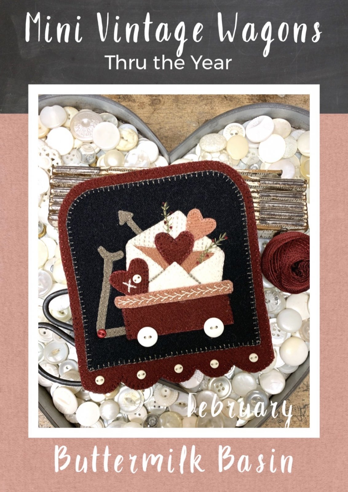 Mini Vintage Wagons February * KIT & Pattern