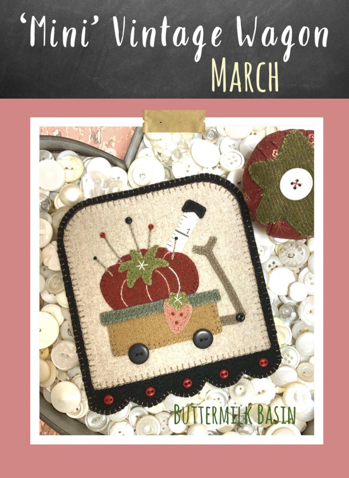 Mini Vintage Wagons March * KIT & Pattern