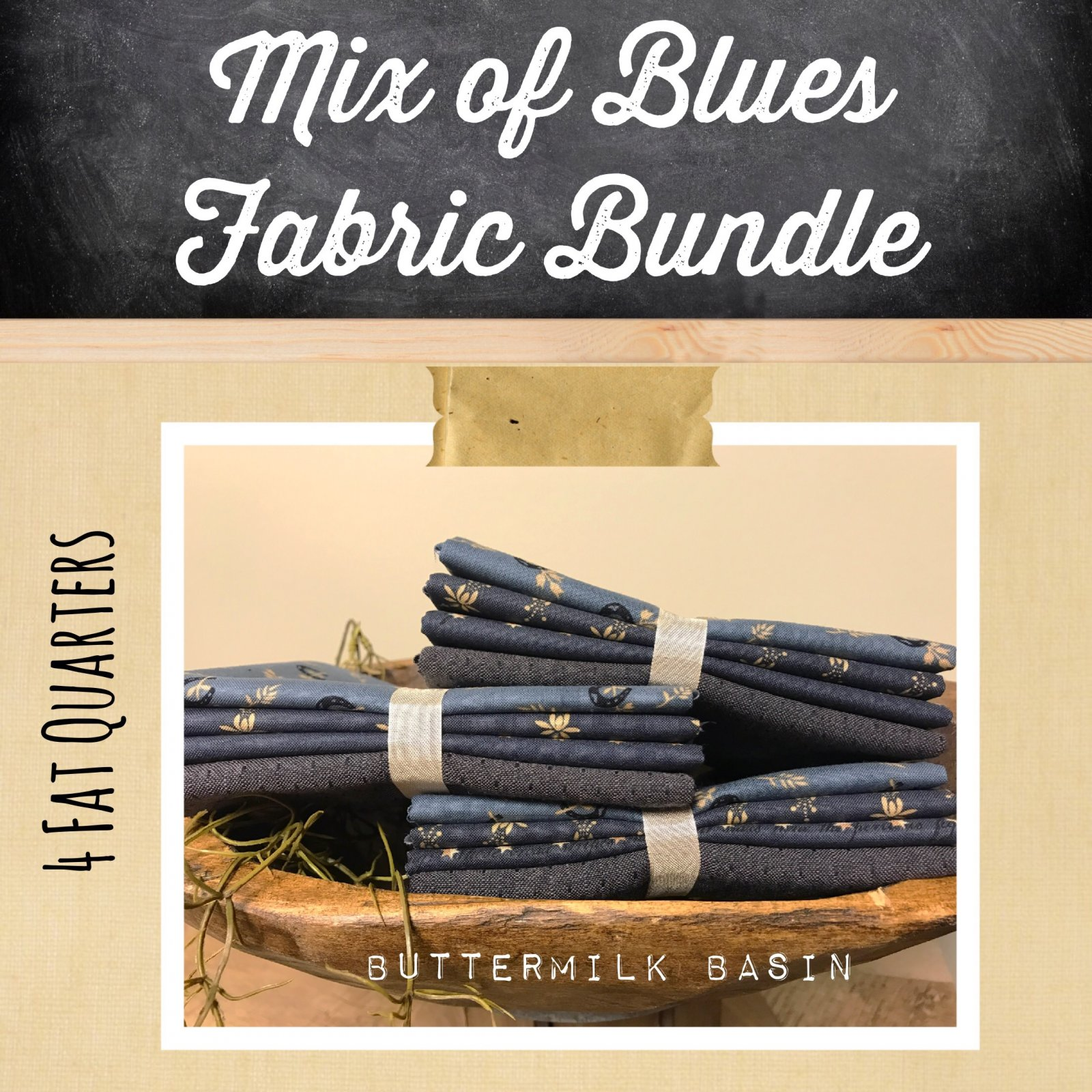 Mix of Blues Fabric Bundle