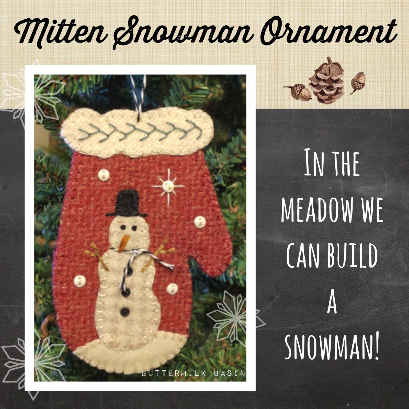 Mitten Snowman Ornament *Kit & Pattern