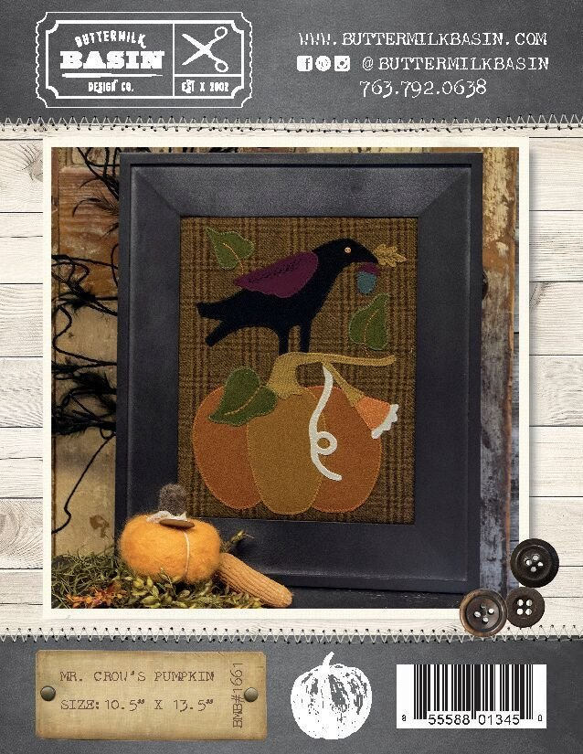Mr. Crow's Pumpkin Pattern & Kit
