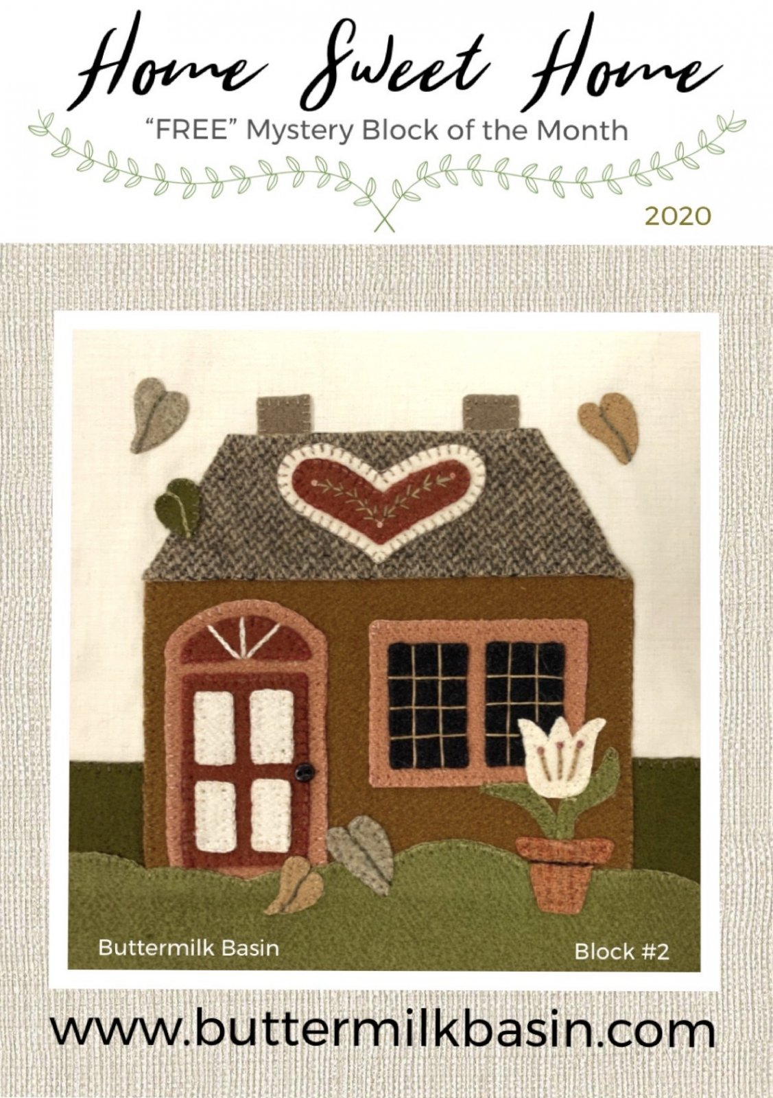 Home Sweet Home Mystery Block 2 * KIT & Pattern