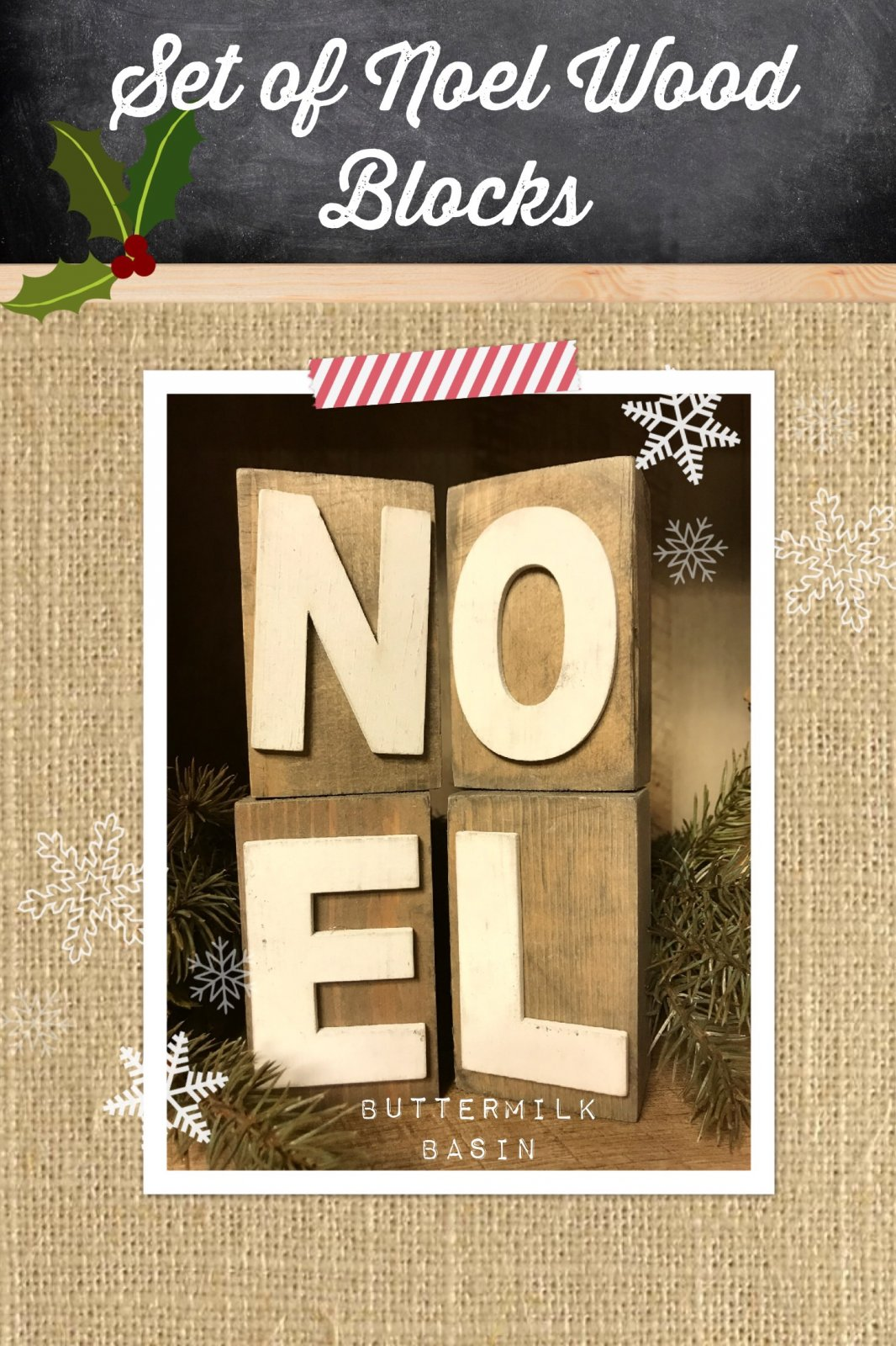 Set of NOEL Wooden Blocks