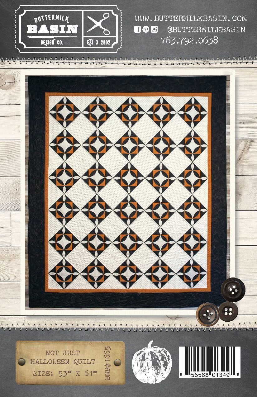 Not Just Halloween Quilt Pattern