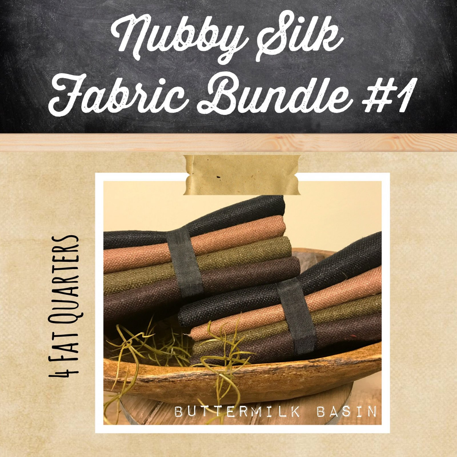 Nubby Silk Fabric Bundle #1