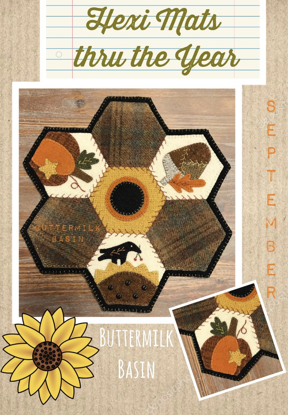 Hexi Mats thru the Year * September KIT & Pattern