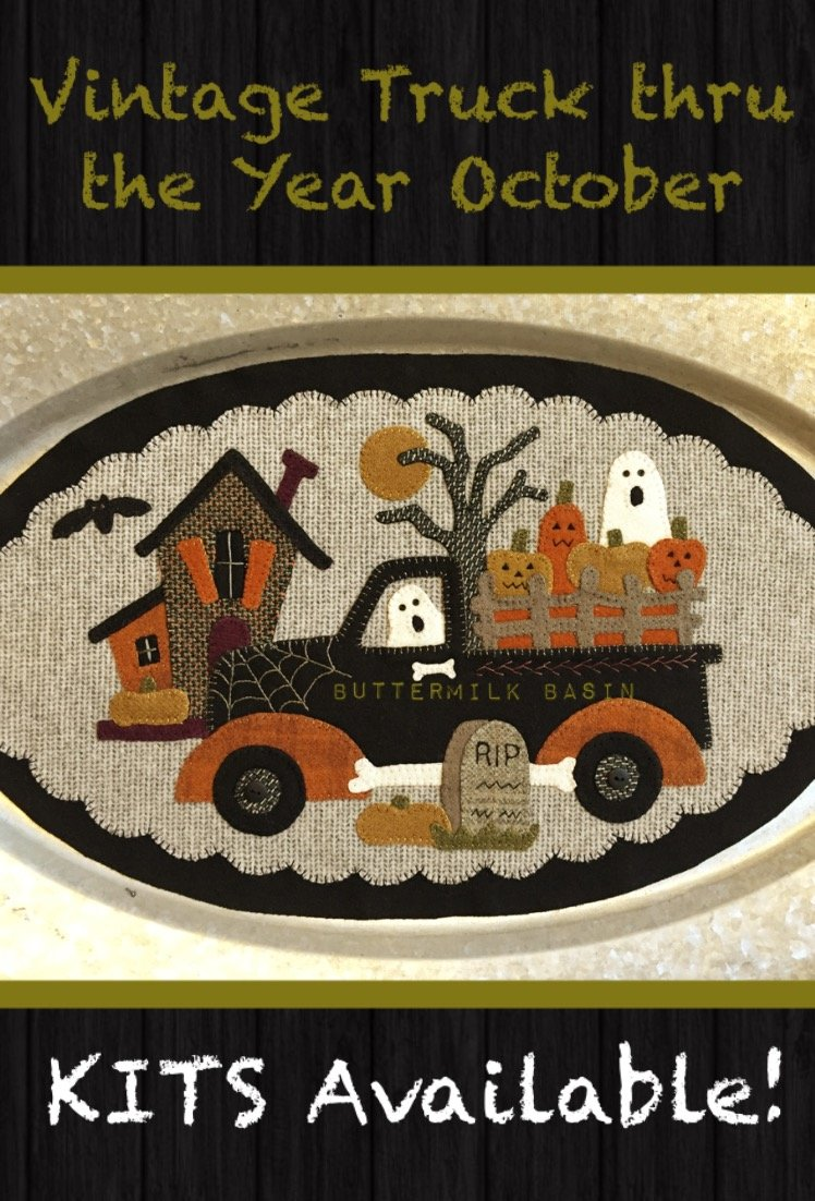 Vintage Trucks thru the Year * October KIT & Pattern