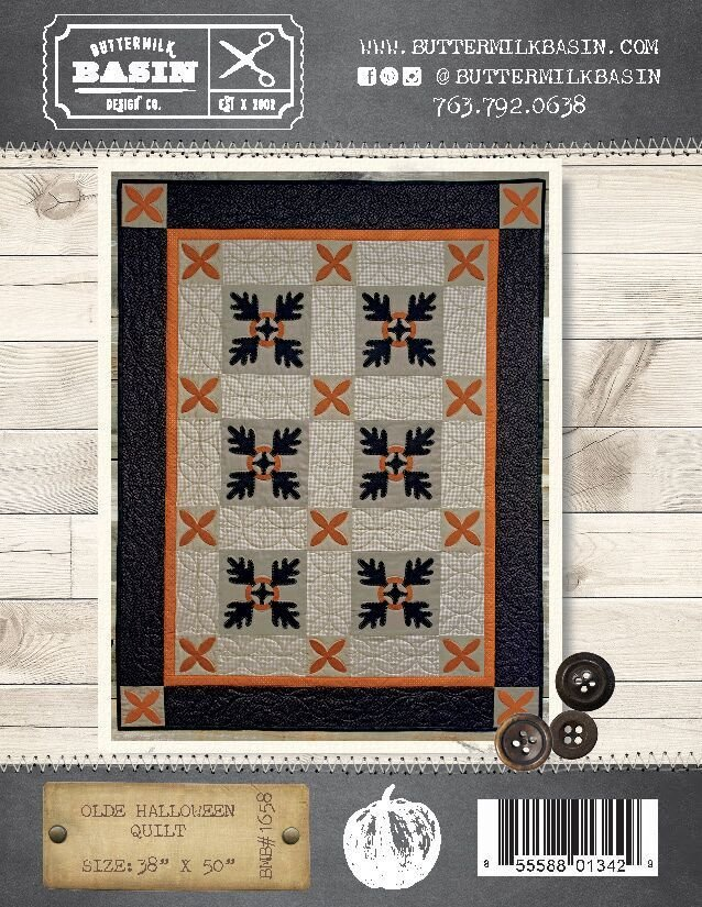 Olde Halloween Quilt Pattern Amp Wool Kit