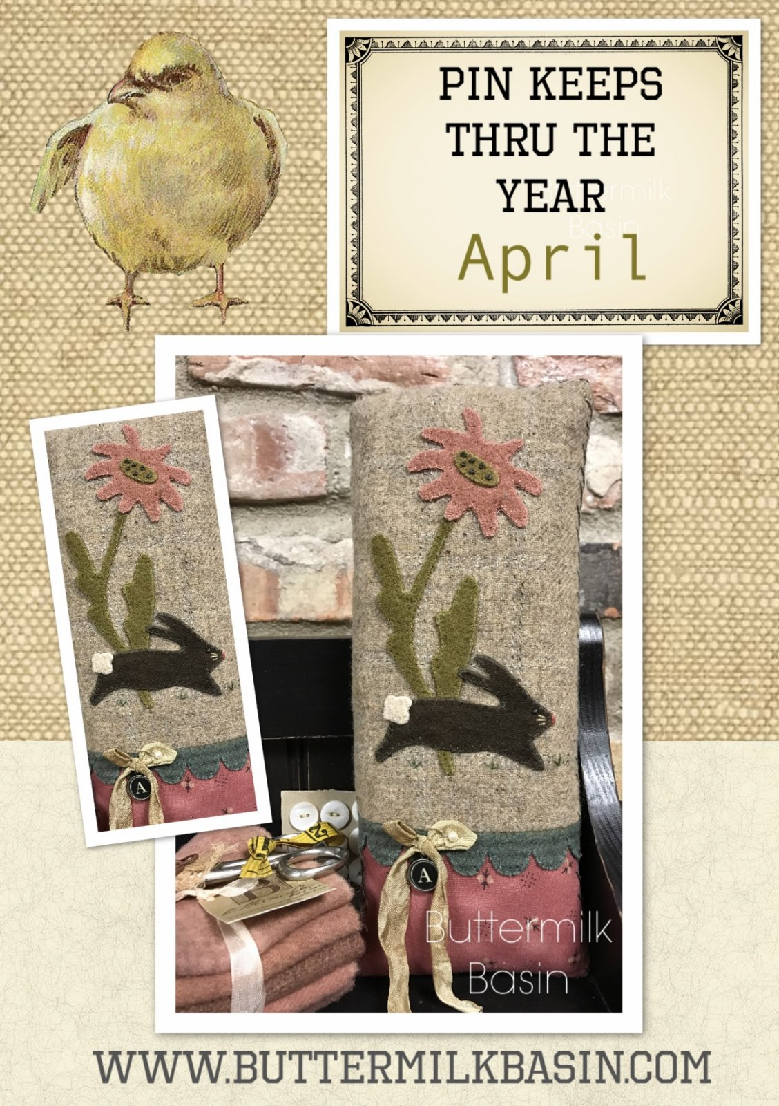Year of the Pinkeeps: April (Kit with Wool)