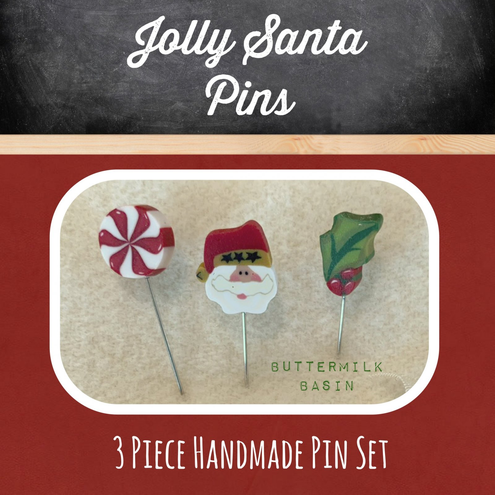 Jolly Santa Pins
