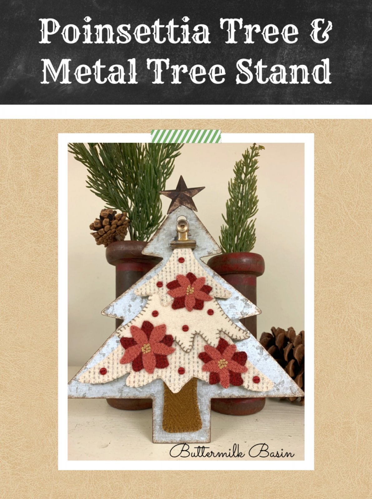 Poinsettia Tree & Metal Tree Stand * Kit, Pattern & Metal Tree Stand