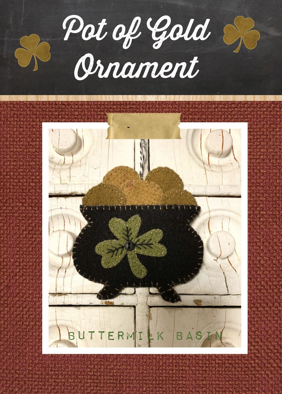 Pot of Gold Ornament * Pattern & Kit