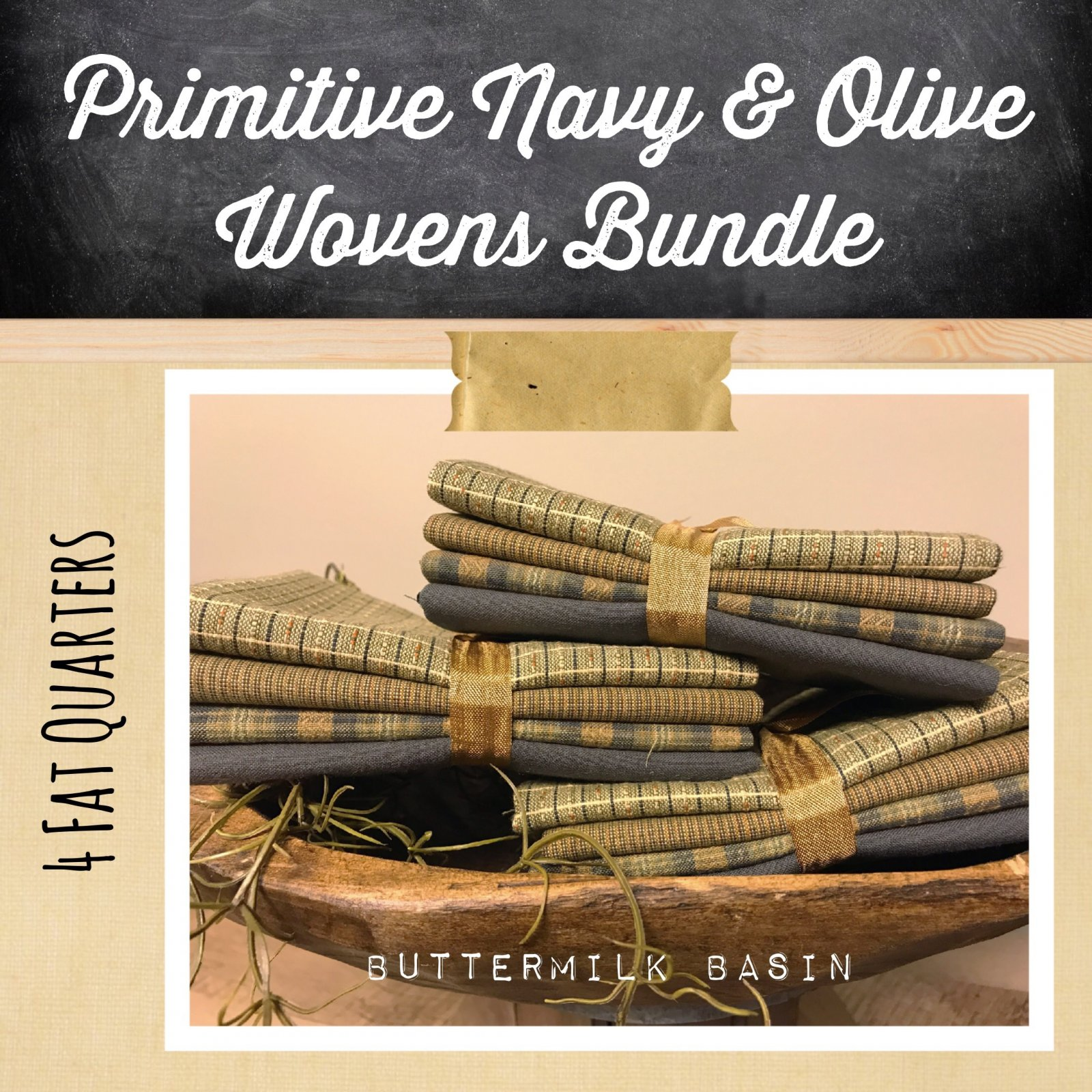 Primitive Navy and Olive Wovens Bundle