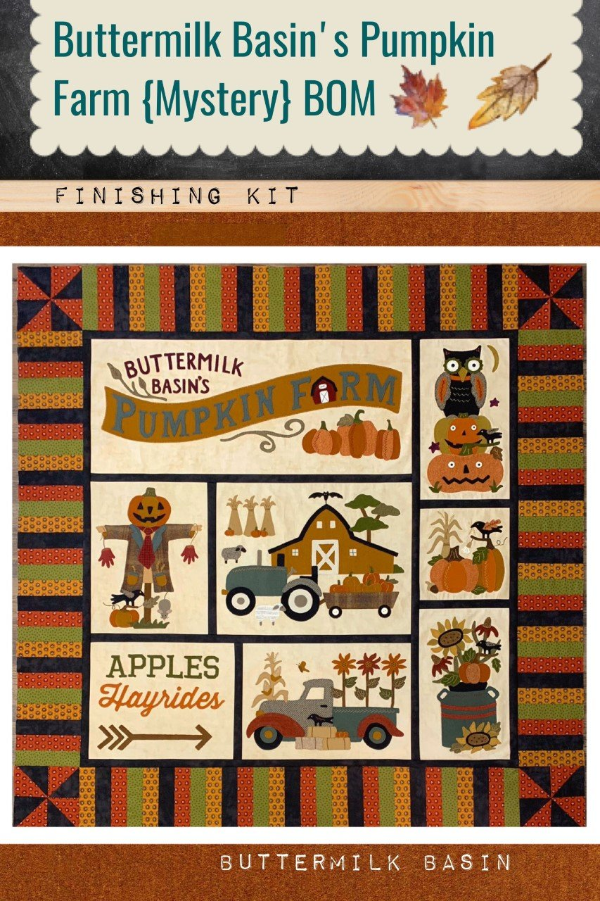 Buttermilk Basin's Pumpkin Farm {Mystery} BOM * Finishing Kit and Pattern