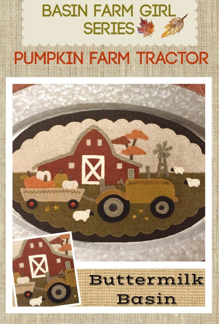 Pumpkin Farm Tractor * KIT & Pattern