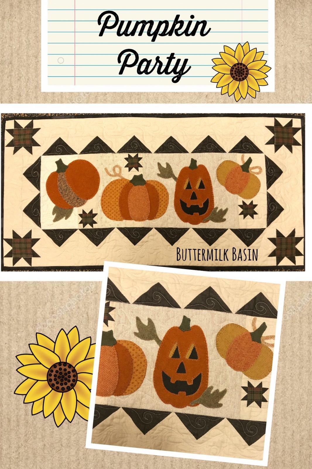 Pumpkin Party Runner WOOL Kit & Pattern