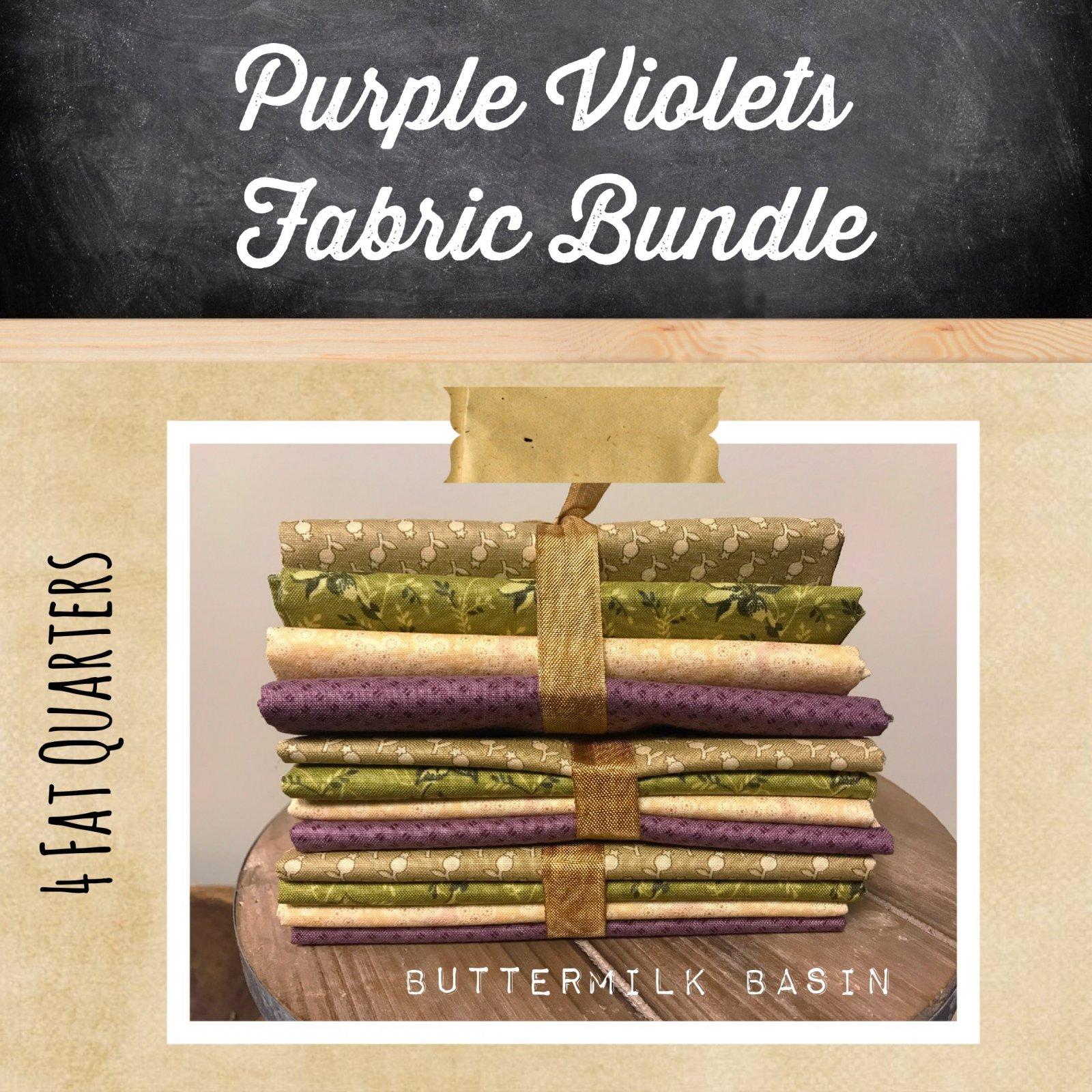 Purple Violets Fabric Bundle
