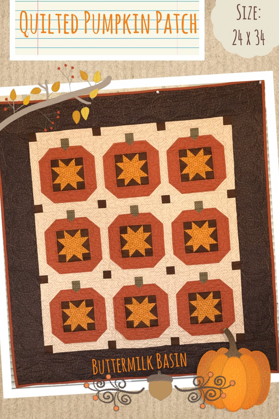 Quilted Pumpkin Patch Pattern