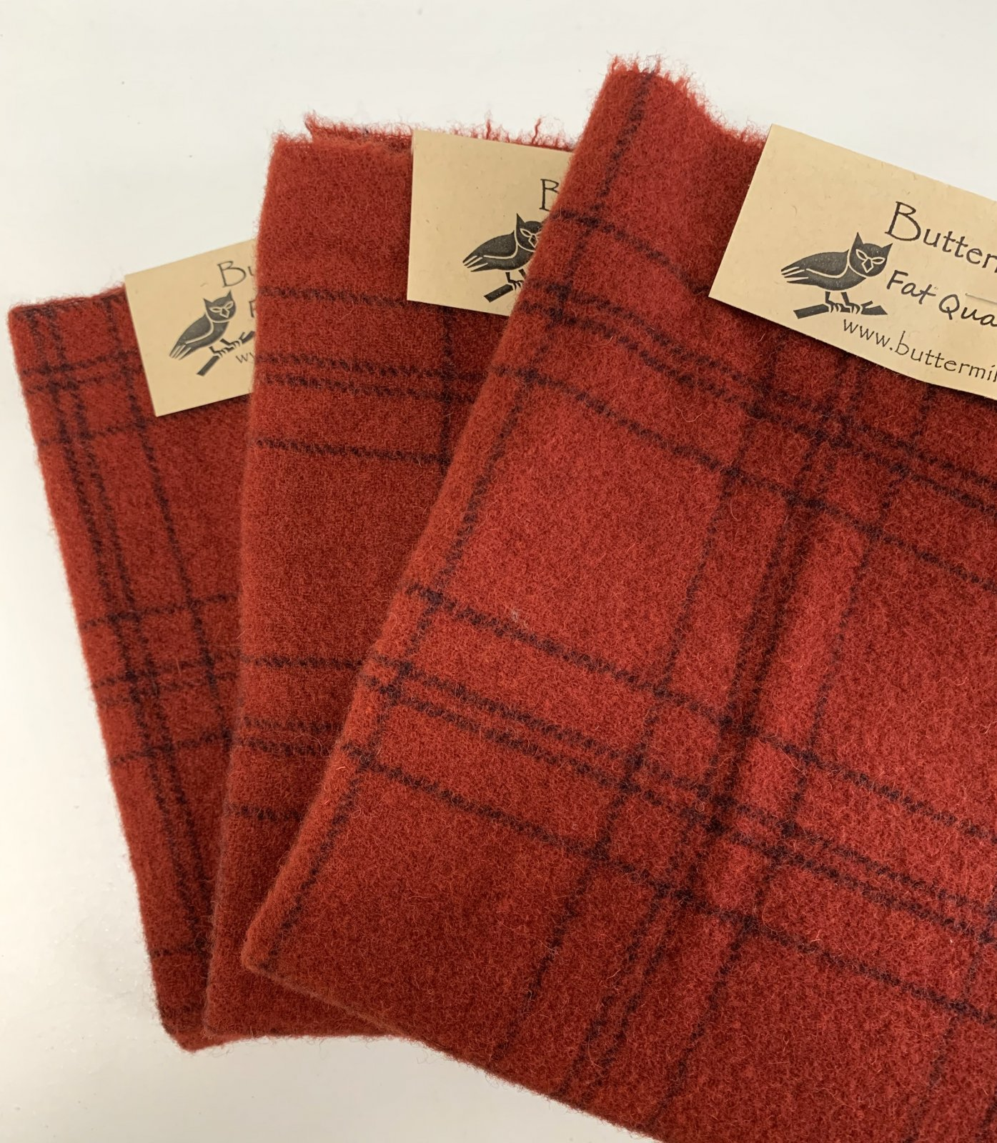 Red #1 Wool Fat Quarter