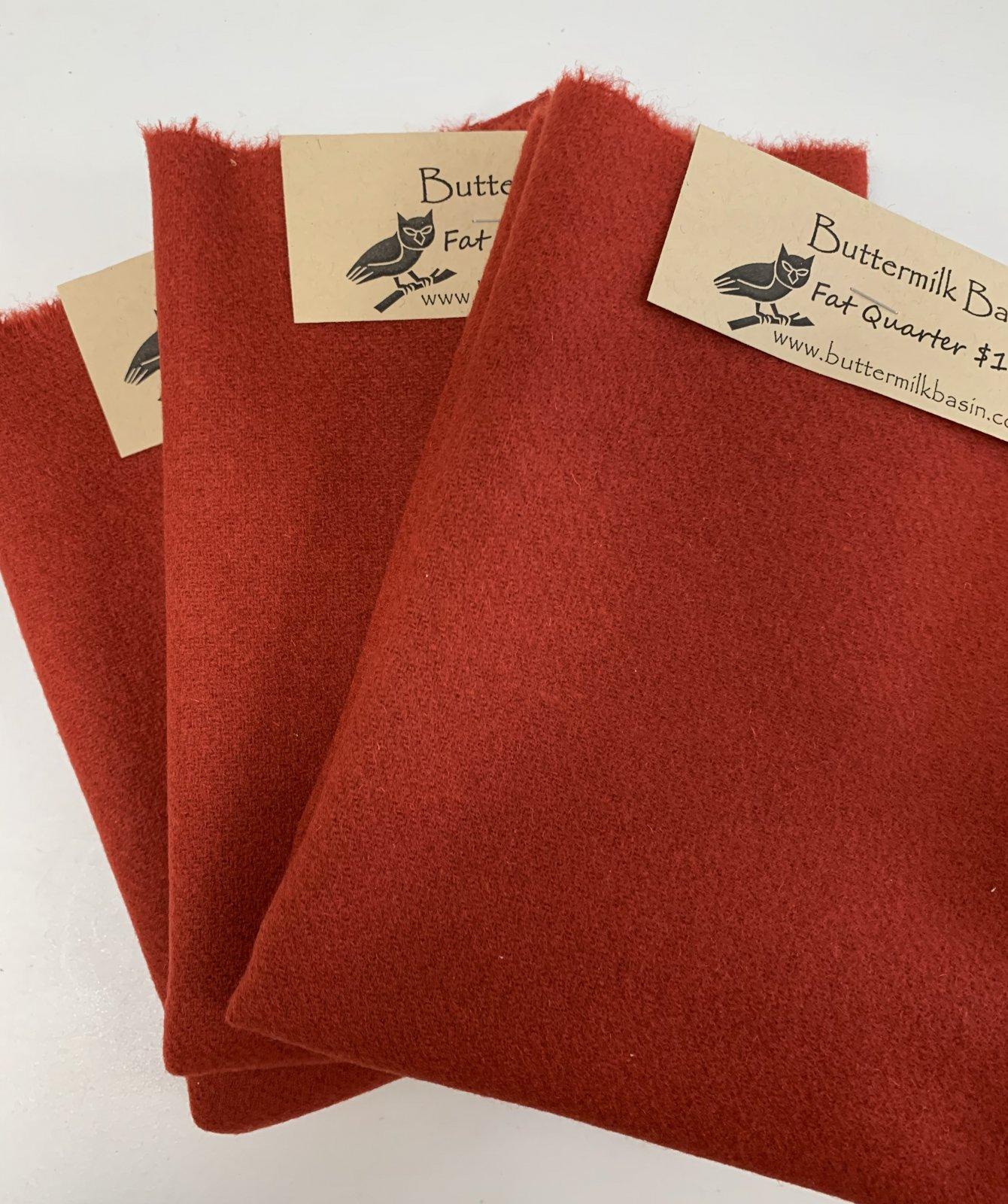Red #3 Wool Fat Quarter