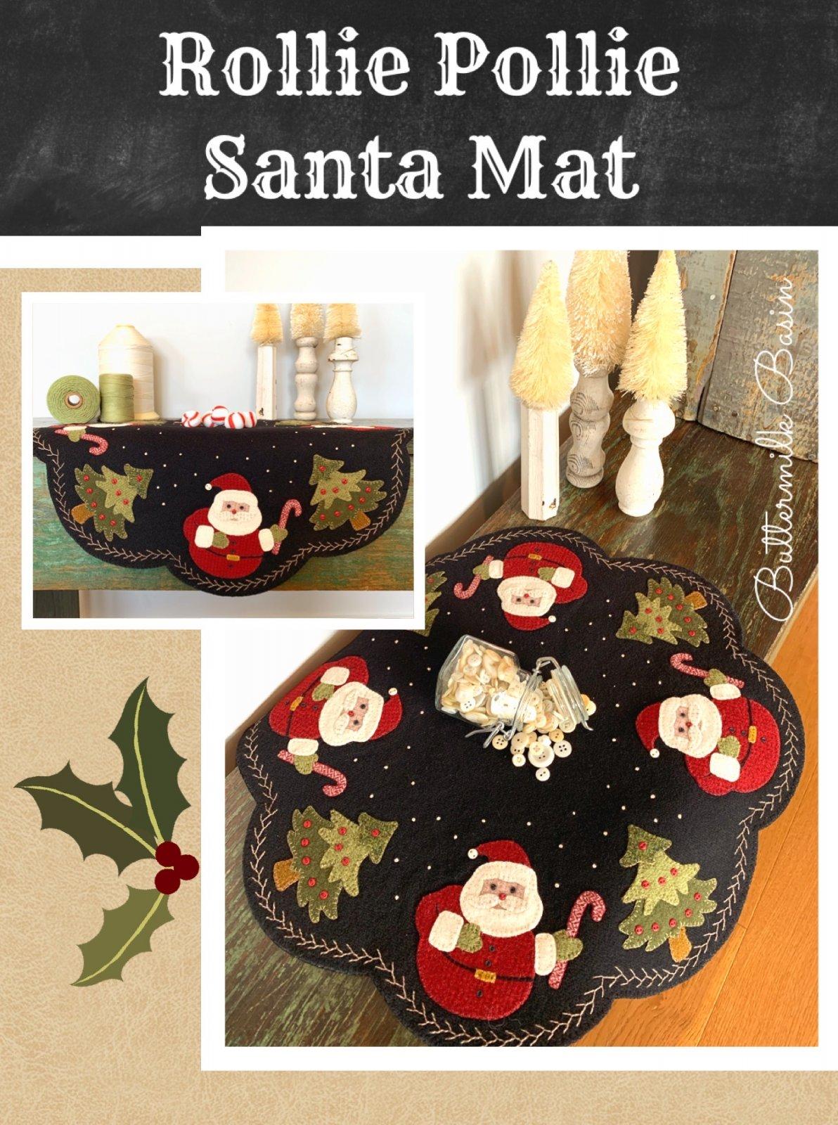 Rollie Pollie Santa Mat * Kit & Pattern