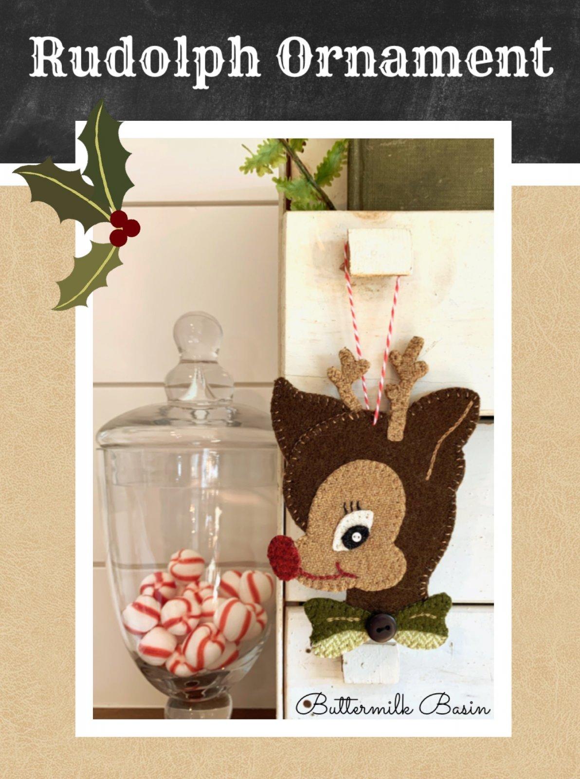 Rudolph Ornament * Pattern & Wool Kit