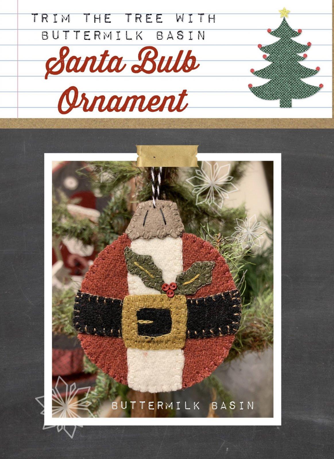 Santa Bulb Ornament * Pattern & Kit