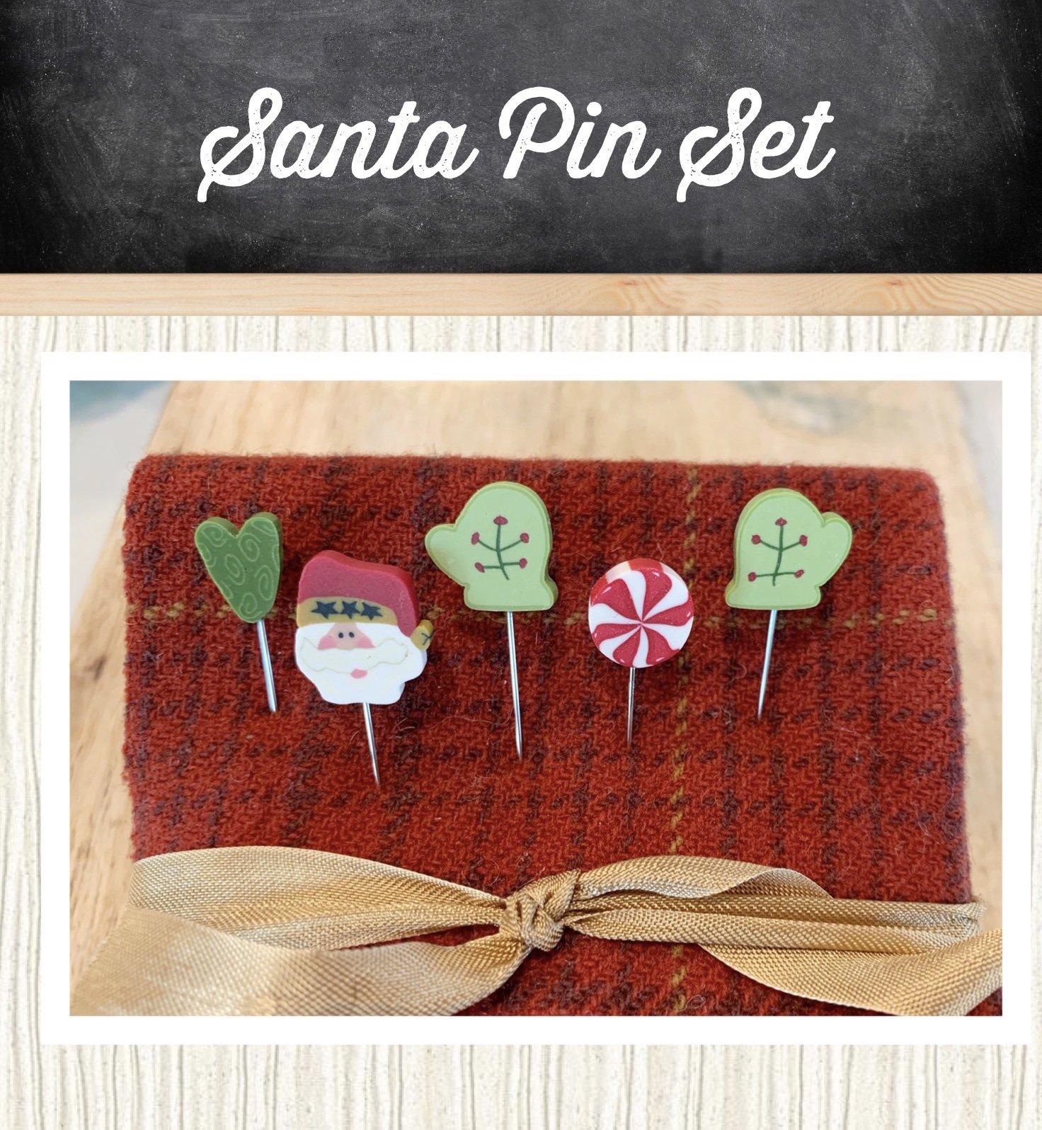 Santa Pin Set * Handmade