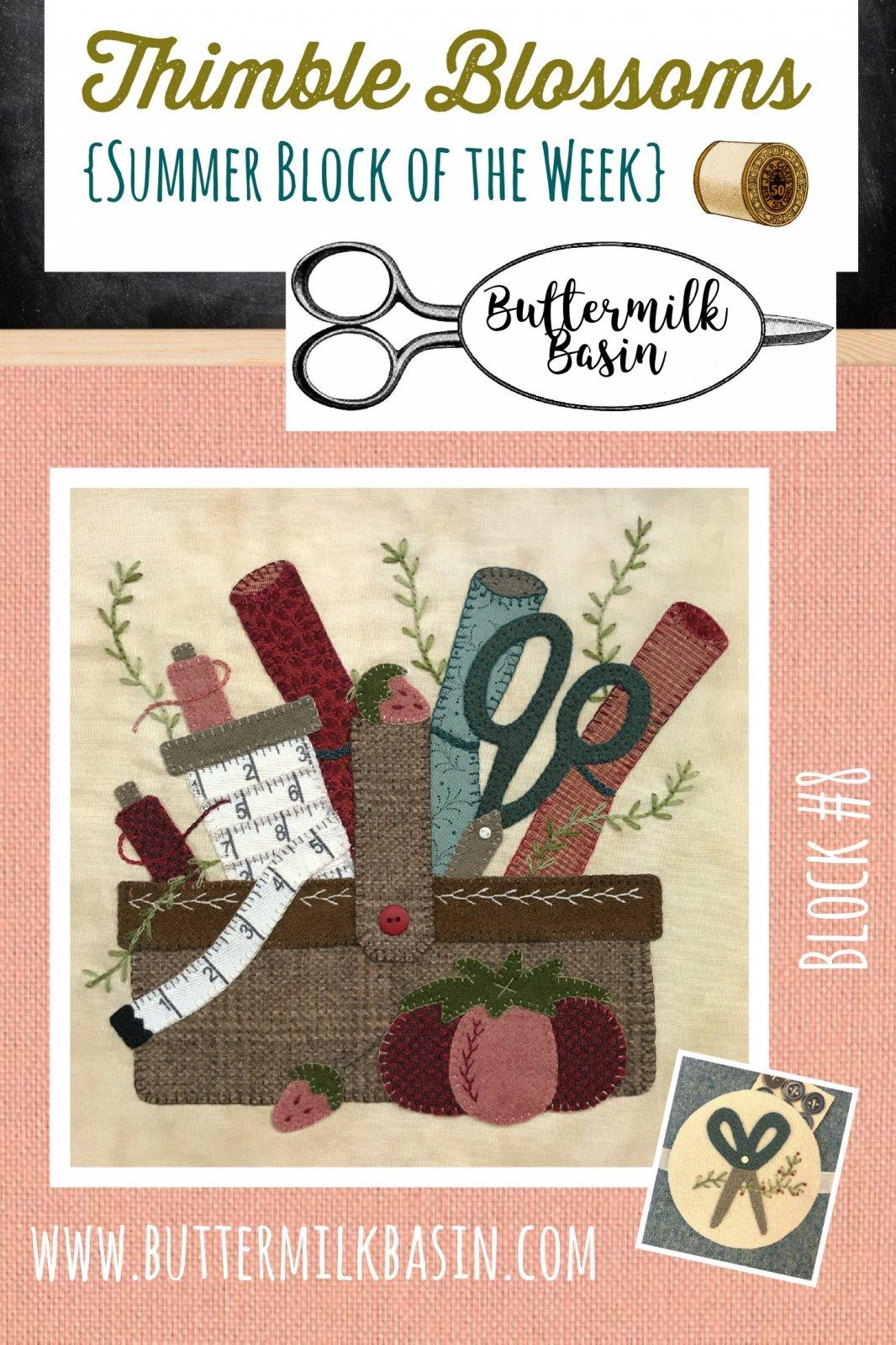 Thimble Blossoms {SBOW} Block #8 Kit & Pattern