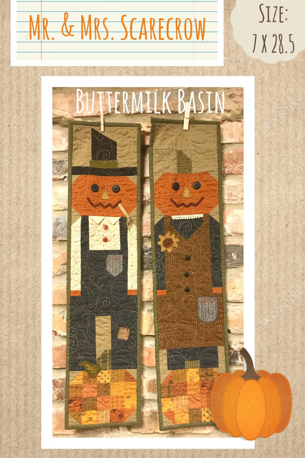 Mr. & Mrs. Scarecrow Pattern