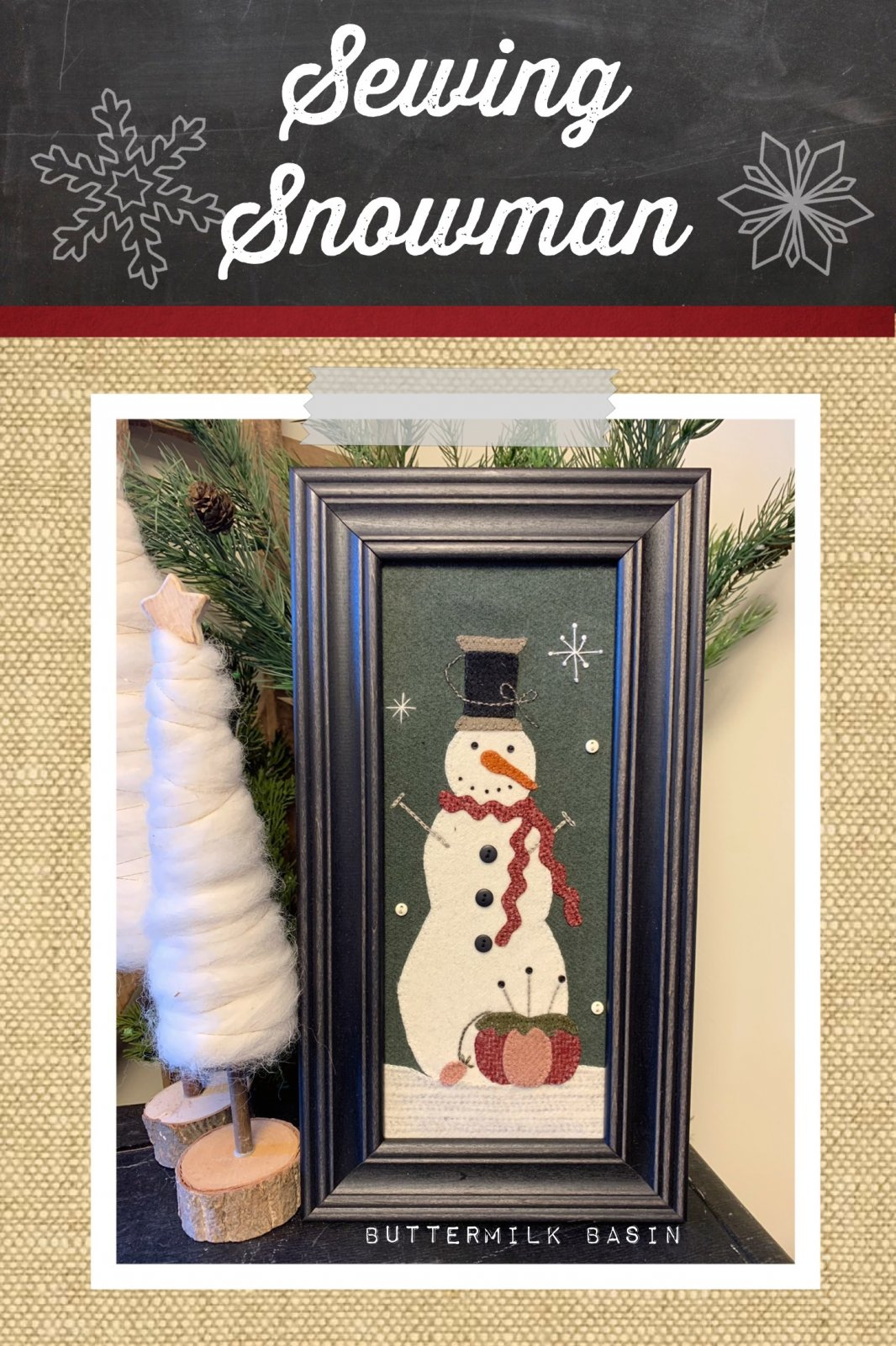 Sewing Snowman * Kit & Pattern