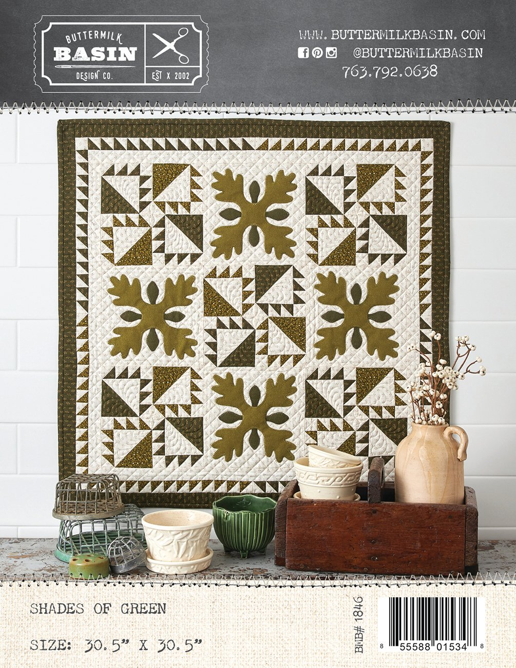 Shades of Green Quilt *Pattern