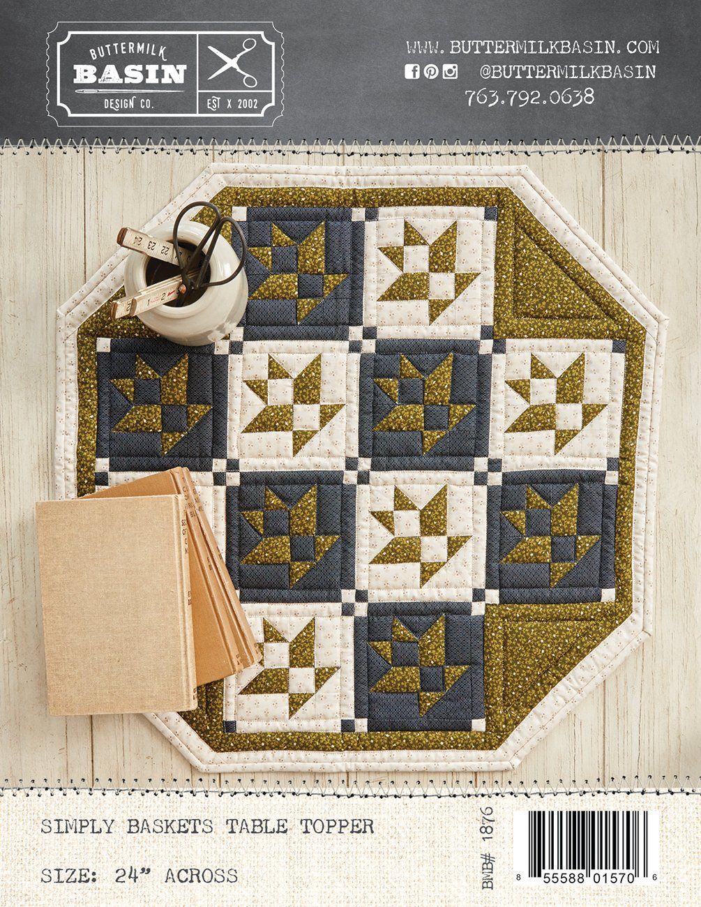 Simply Baskets Table Topper *Kit & Pattern