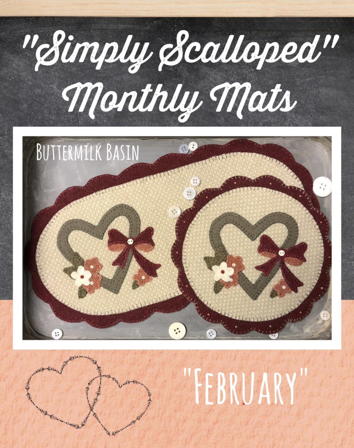 Simply Scalloped Mats Thru the Year - February Pattern