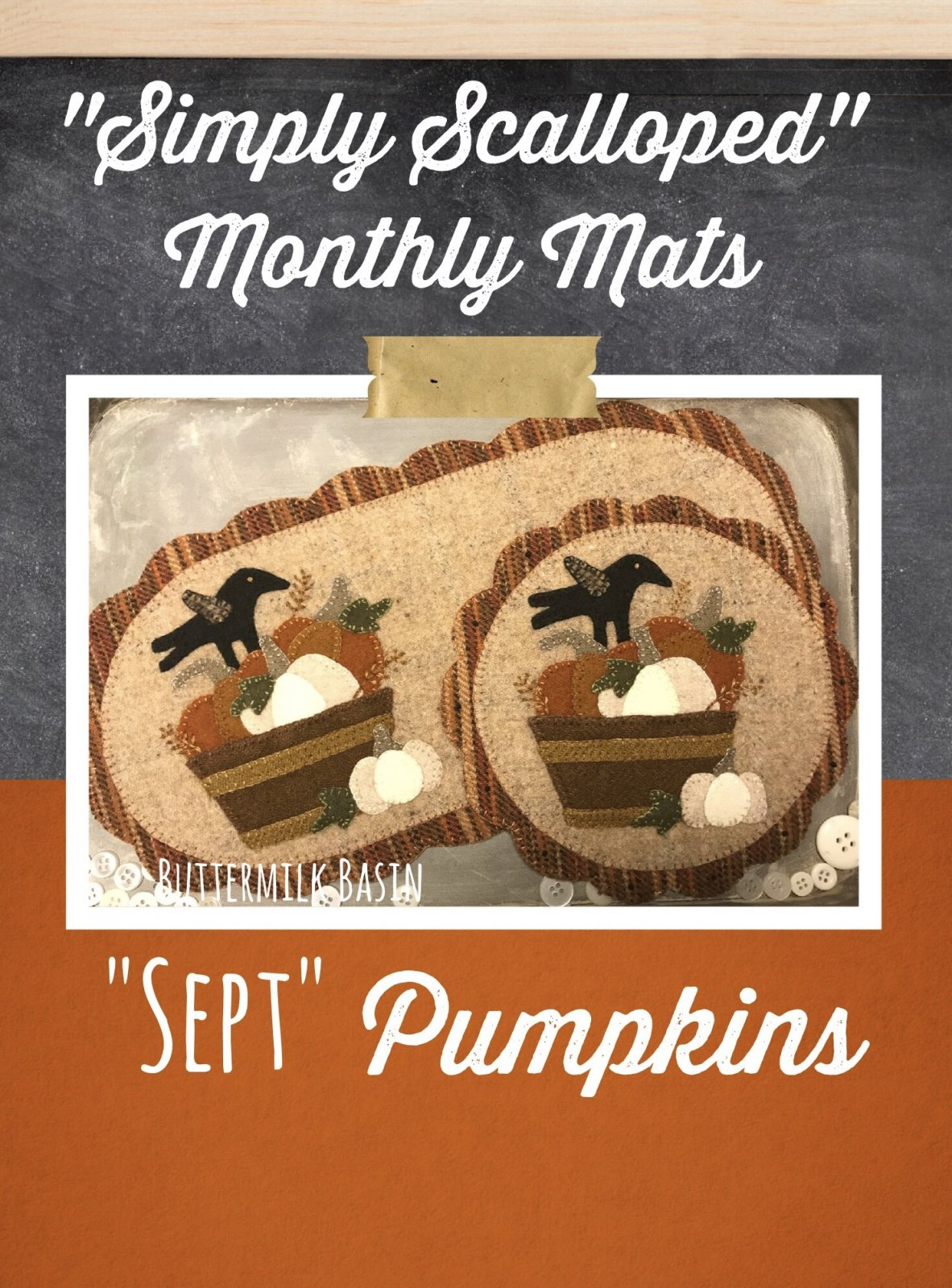 Simply Scalloped Mats Thru the Year - September Pattern & Kit for both Oval Mat & Round Mat