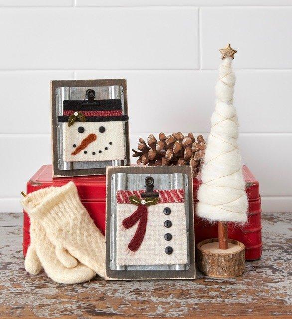 Simply Square Snowmen Ornaments *Kit, Frames & Pattern
