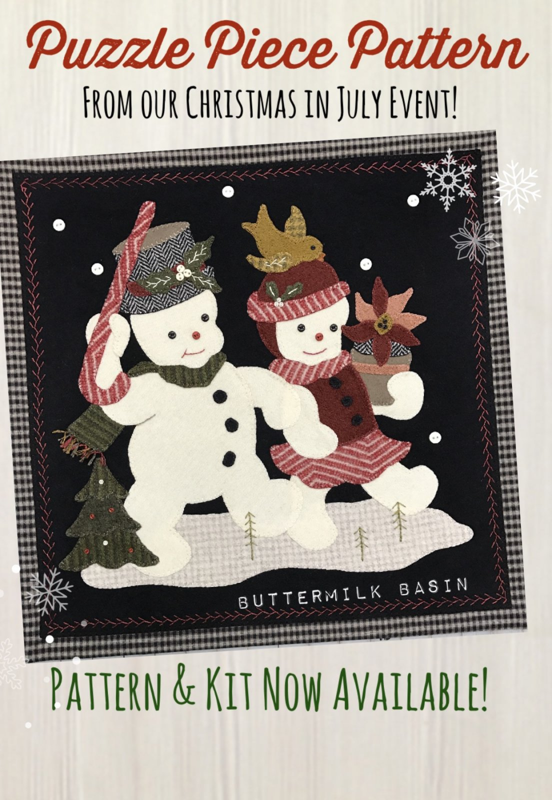Snow Couple Puzzle Piece Kit & Pattern