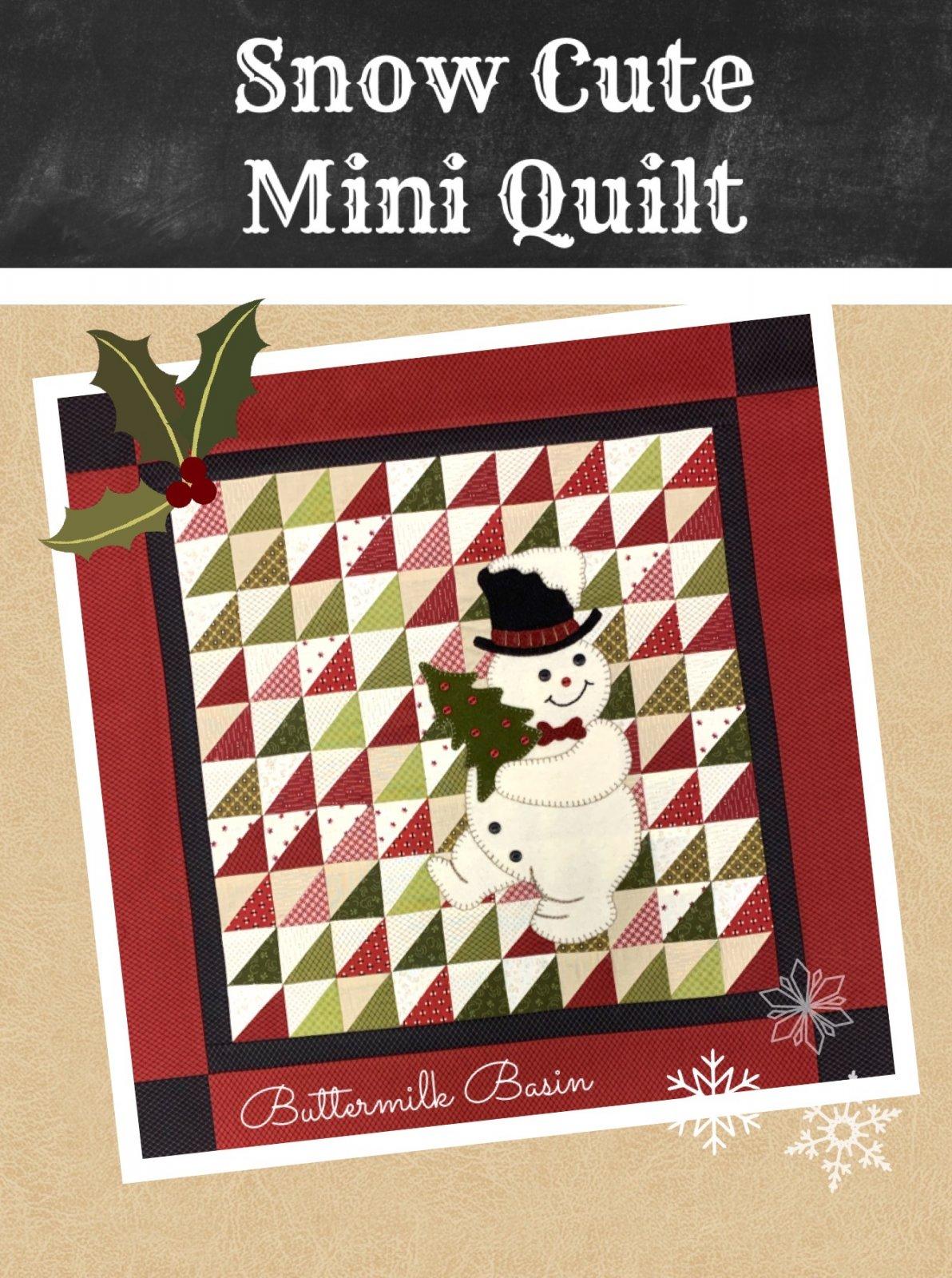 Snow Cute Mini Quilt * Kit & Pattern