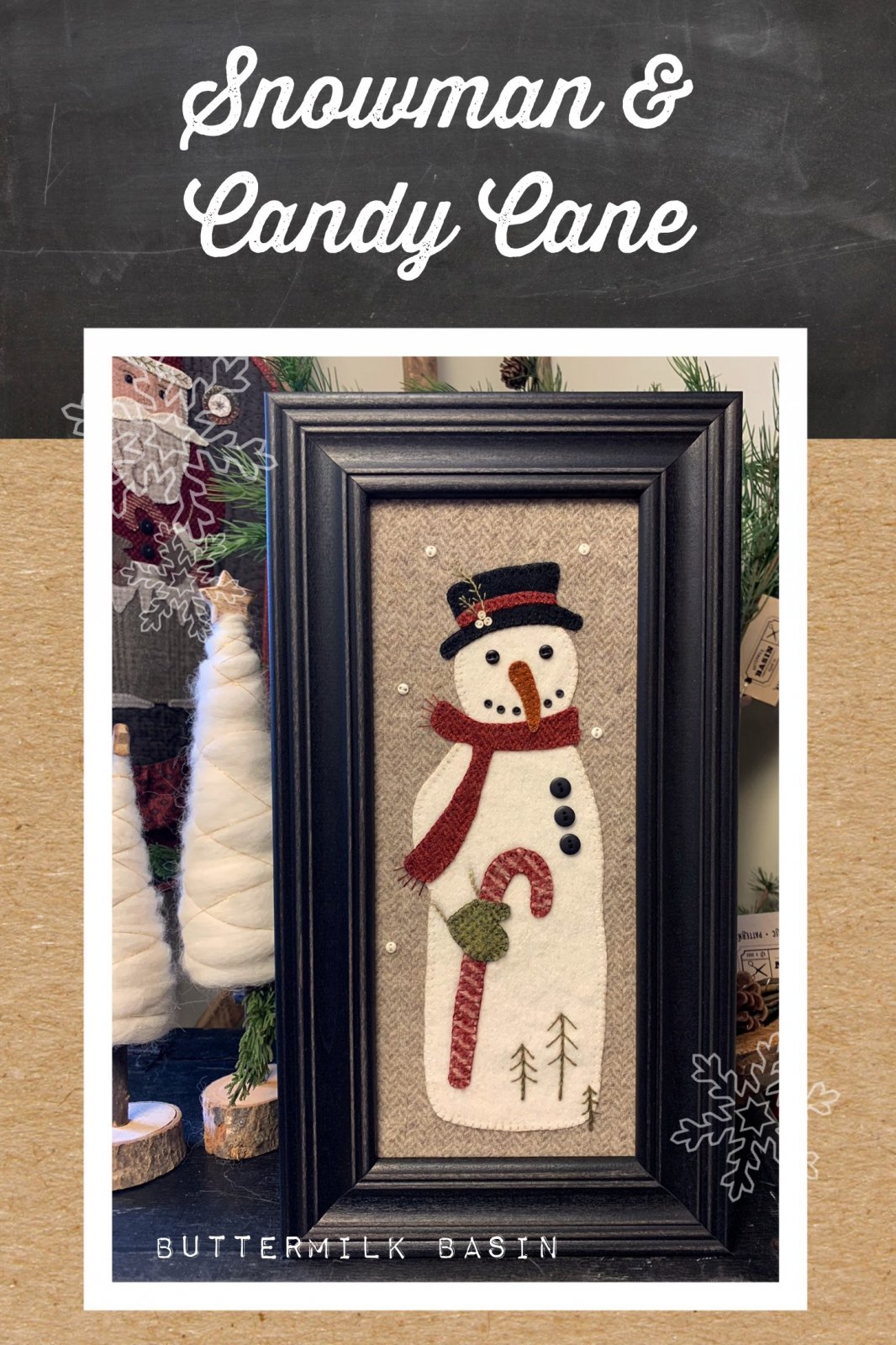 Snowman And Candy Cane Pattern Kit