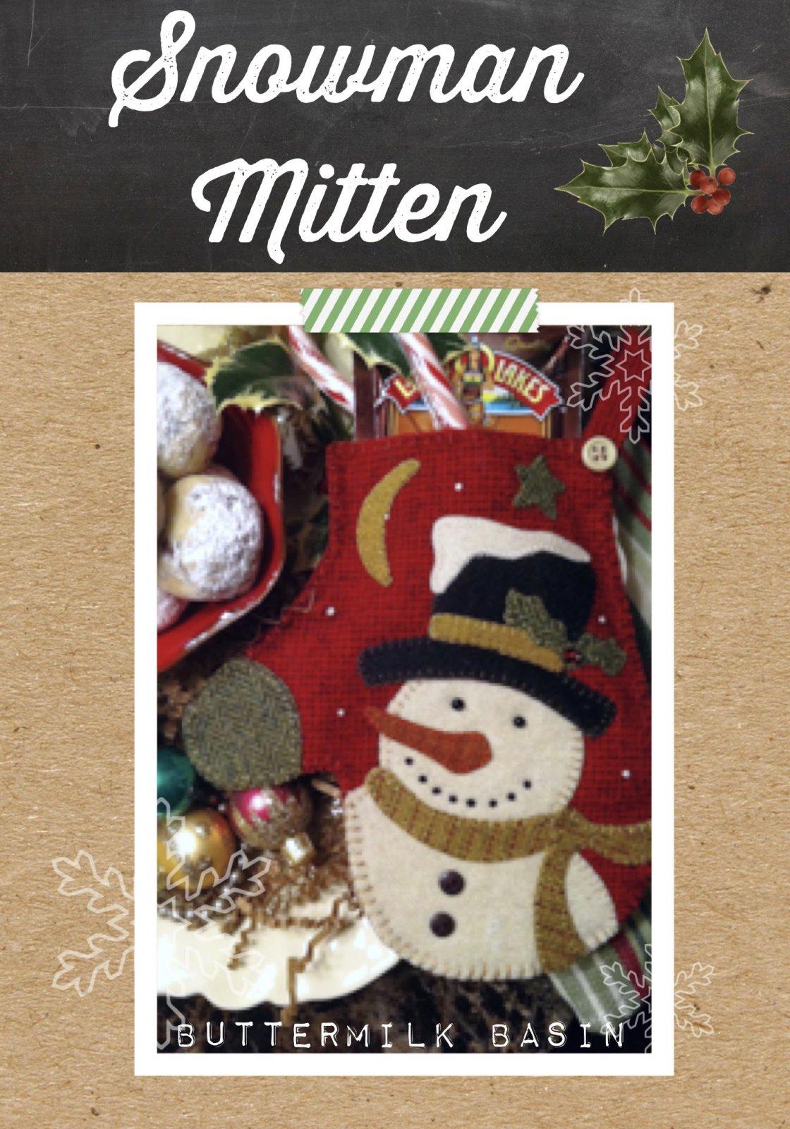 Snowman Mitten Pouch