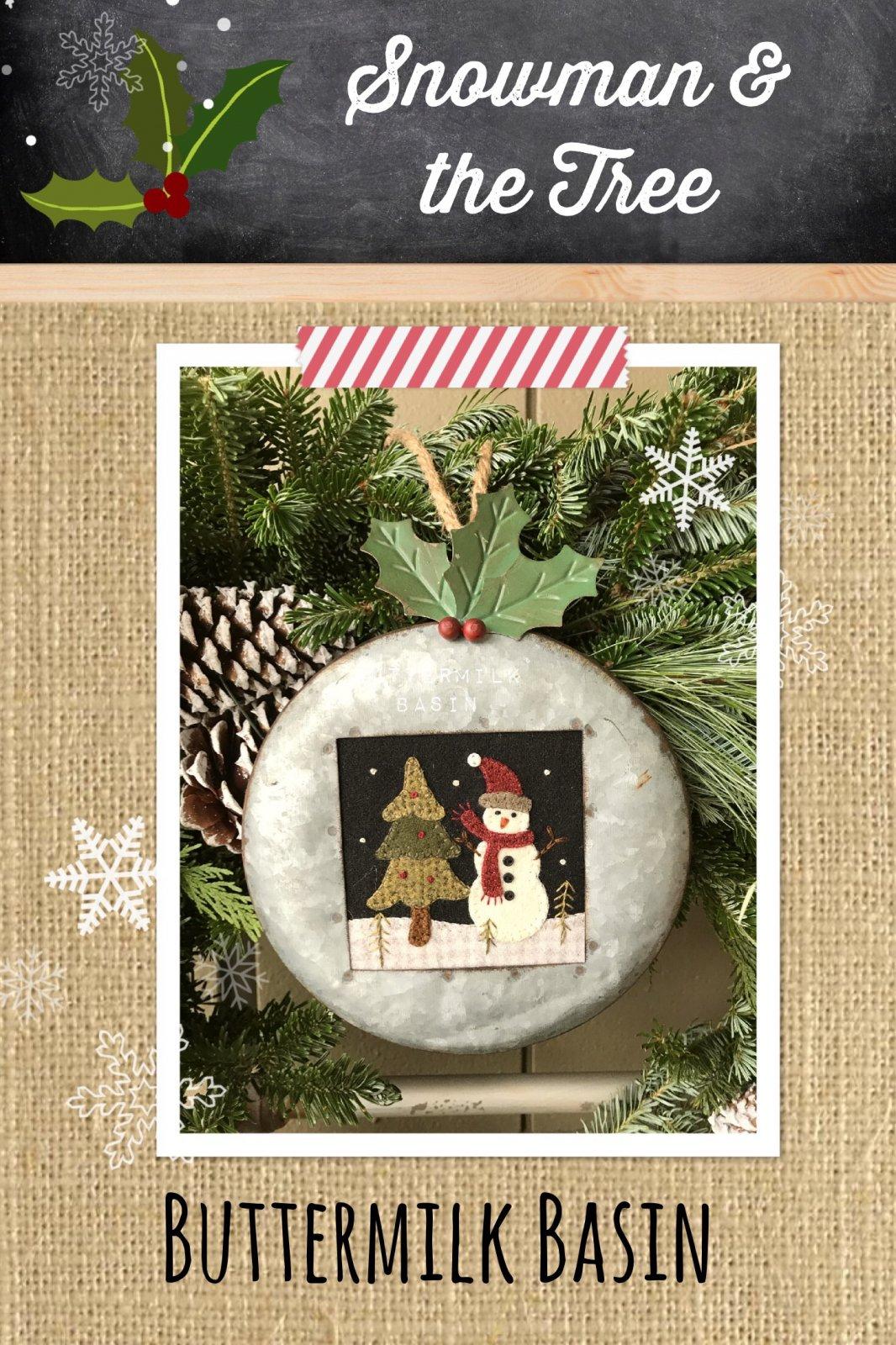 Snowman & the Tree KIT & Pattern
