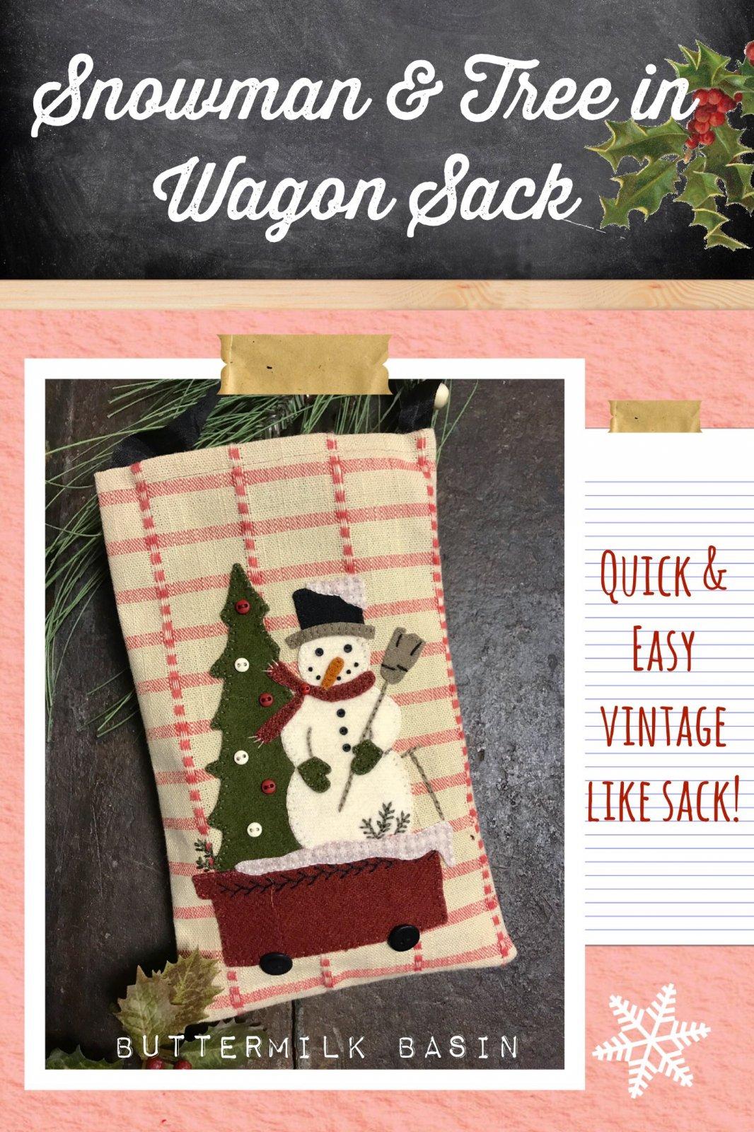 Snowman & Tree in Wagon Sack Pattern