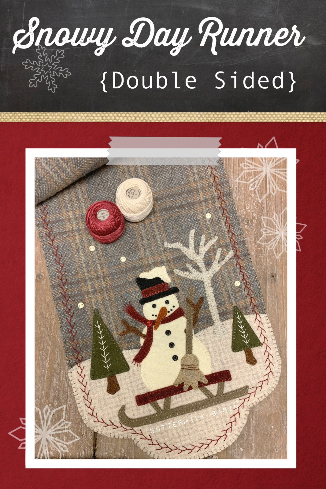 Snowy Day Runner * Kit & Pattern