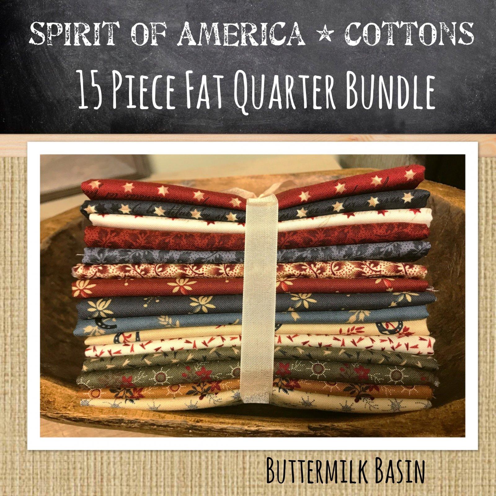 Spirit of America 15 Piece Fat Quarter Bundle