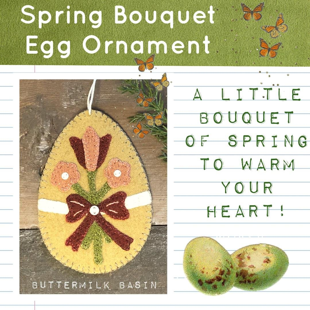 Spring Bouquet Egg Ornament * Pattern & Kit