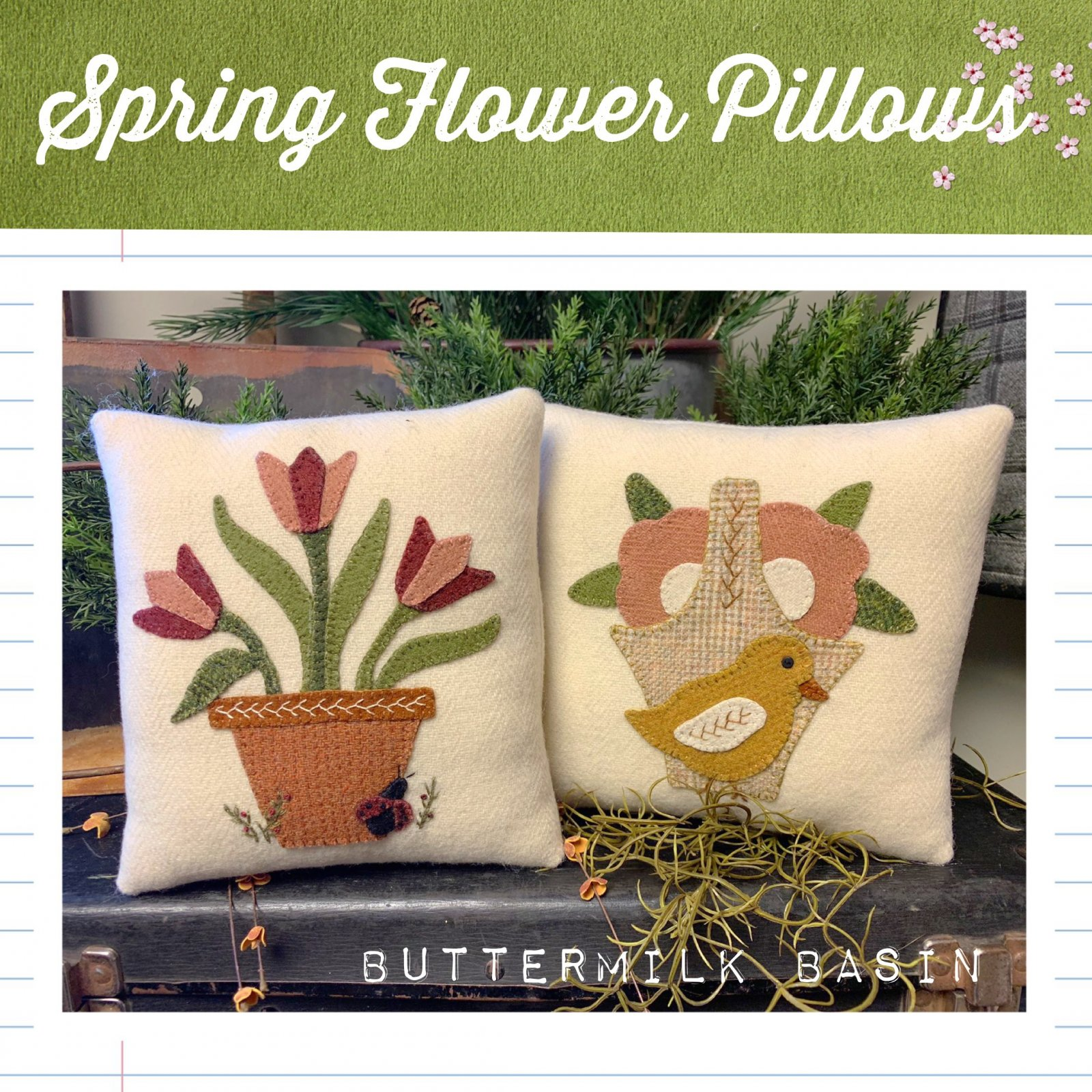 Spring Flower Pillows * Pattern & Kit