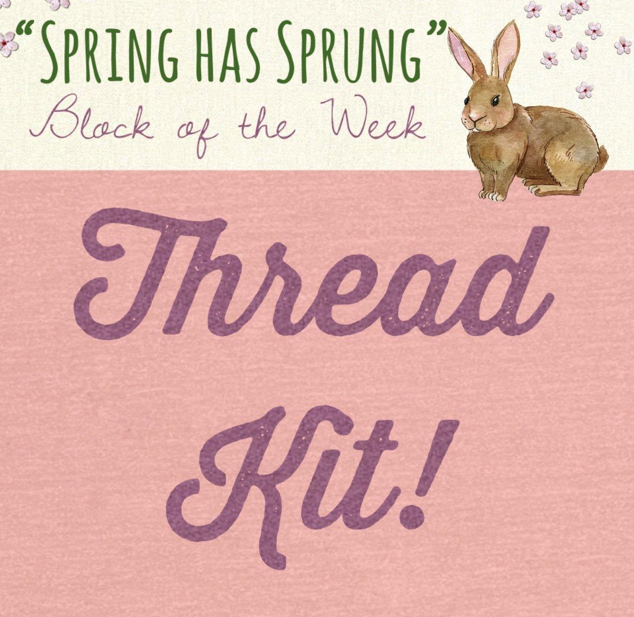Spring Has Sprung Block of the Week * Thread Kit