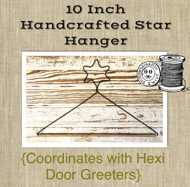 10 Inch Handcrafted Star Hanger