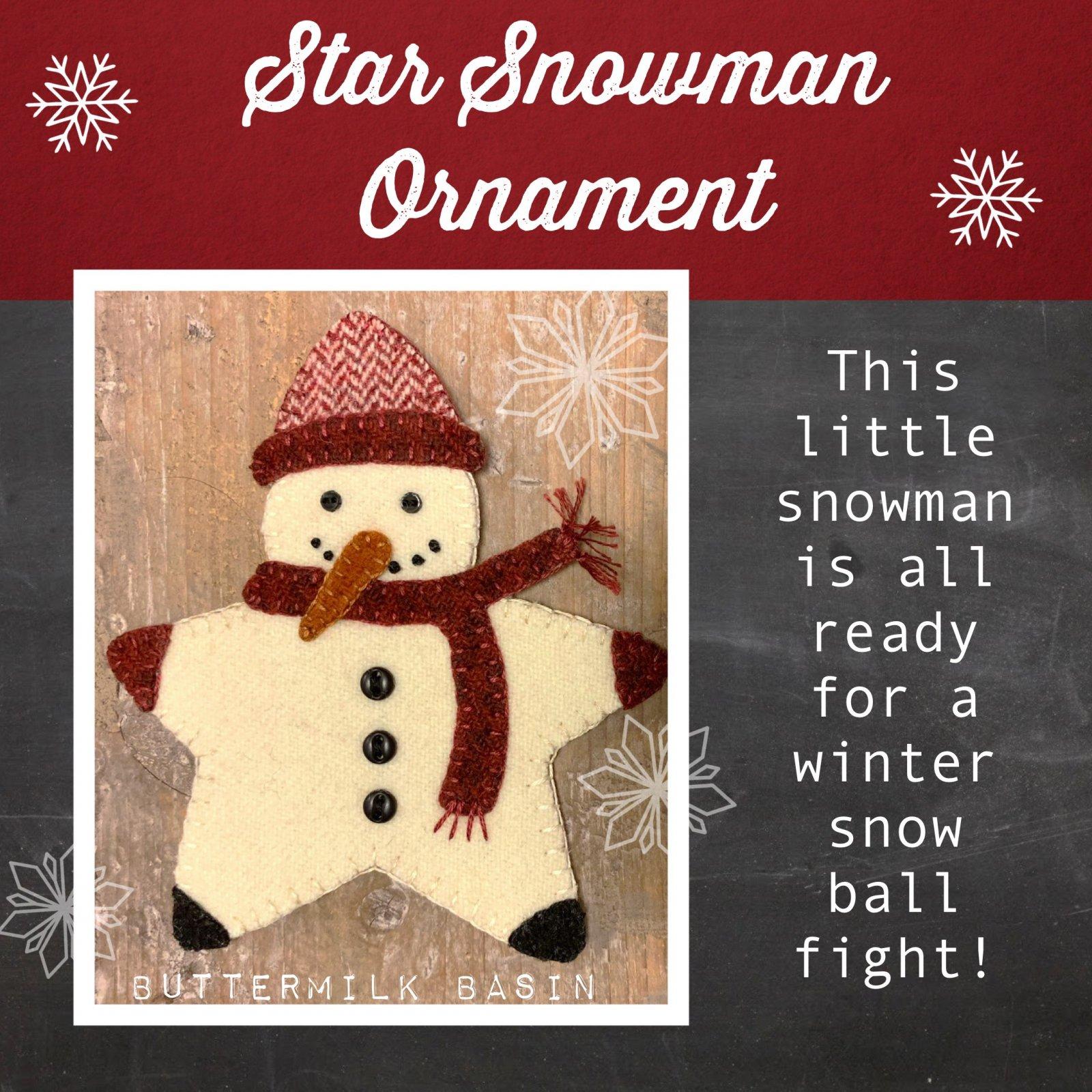 Star Snowman Ornament *Kit & Pattern